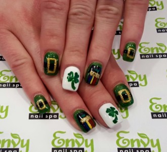 saint patrick,seasonal nail design