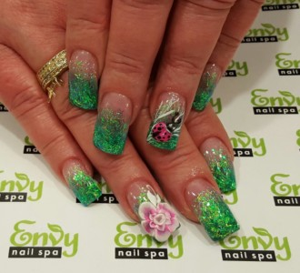 beetle,flower nail design