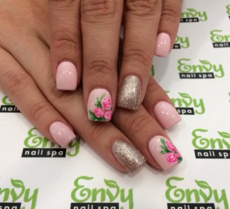 cute girly nail design