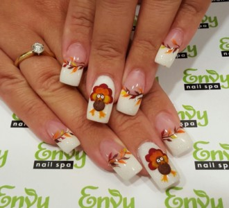 seasonal nail design,thanksgiving
