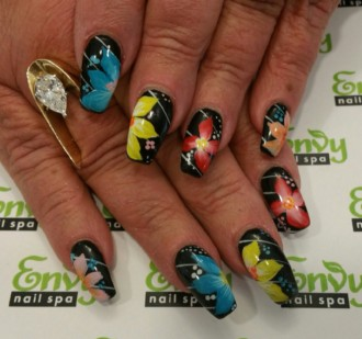 cartoon,flower nail design